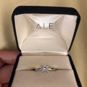 Princess diamond cut Zales ring